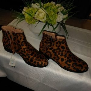 NEW LEOPARD DOUBLE ZIP ANKLE BOOT NEW